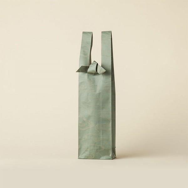青緑 水雲 ワインバッグ おしゃれ