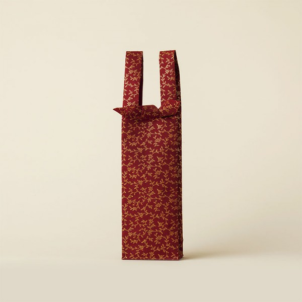 紅赤 蔦唐花 ワインバッグ おしゃれ